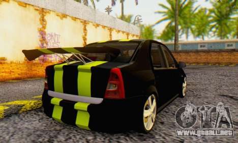 Dacia Logan Black Style para GTA San Andreas vista posterior izquierda