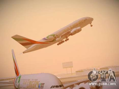 Airbus A380-800 Emirates Rugby World Cup para GTA San Andreas interior