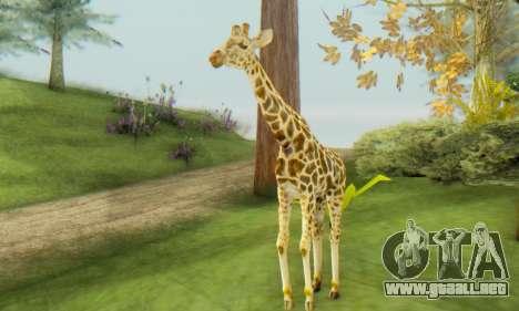 Giraffe (Mammal) para GTA San Andreas segunda pantalla
