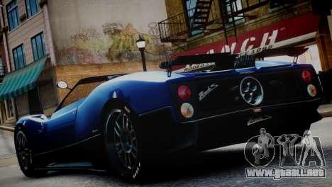 Pagani Zonda S (C12S) Roadster 2011 para GTA 4 left