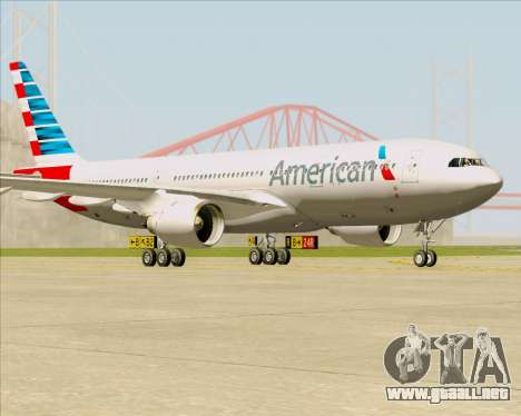 Airbus A330-200 American Airlines para GTA San Andreas left