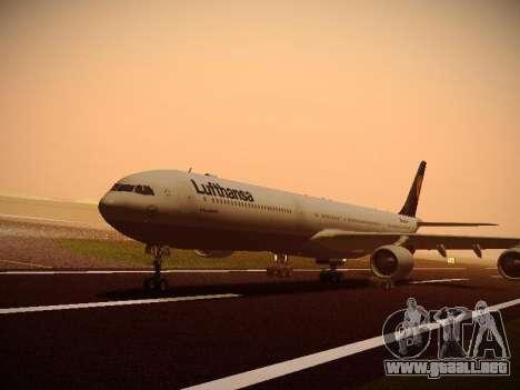 Airbus A340-600 Lufthansa para la visión correcta GTA San Andreas