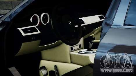 BMW M5 E60 v1 para GTA 4 Vista posterior izquierda