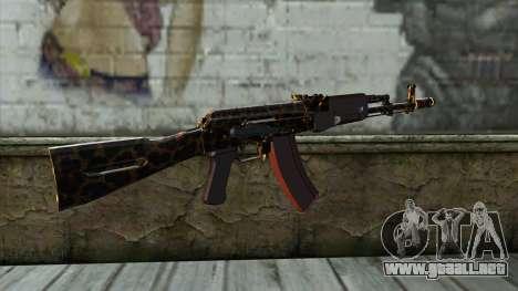 Graffiti AK47 para GTA San Andreas segunda pantalla