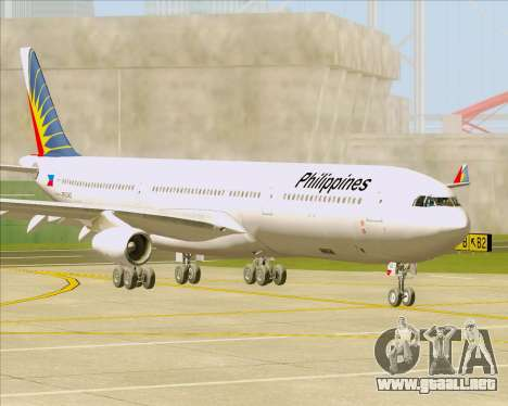 Airbus A340-313 Philippine Airlines para GTA San Andreas left