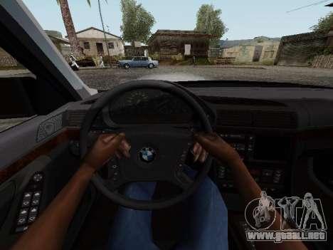 BMW 760i E38 para GTA San Andreas vista hacia atrás
