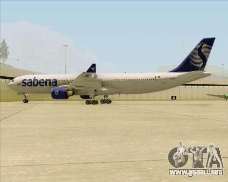 Airbus A330-300 Sabena para vista inferior GTA San Andreas