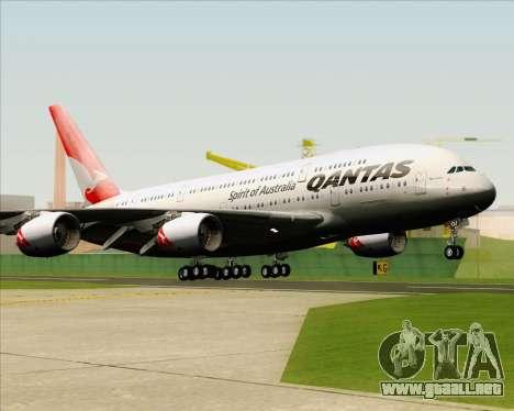 Airbus A380-841 Qantas para GTA San Andreas vista hacia atrás