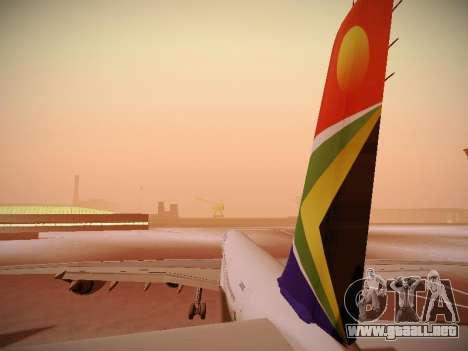 Airbus A340-600 South African Airways para el motor de GTA San Andreas