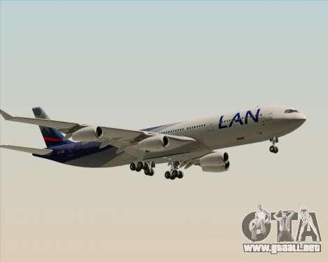 Airbus A340-313 LAN Airlines para GTA San Andreas vista hacia atrás