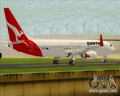 Boeing 737-838 Qantas para la visión correcta GTA San Andreas