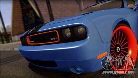 Dodge Challenger SRT8 Stance para GTA San Andreas vista posterior izquierda