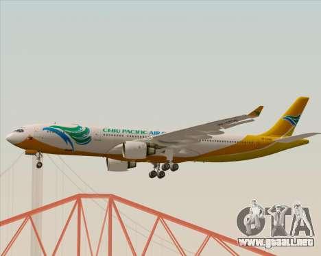 Airbus A330-300 Cebu Pacific Air para visión interna GTA San Andreas