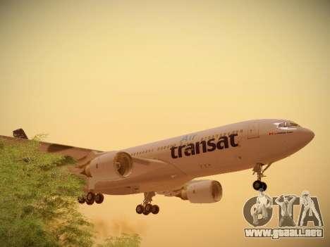 Airbus A330-200 Air Transat para la vista superior GTA San Andreas
