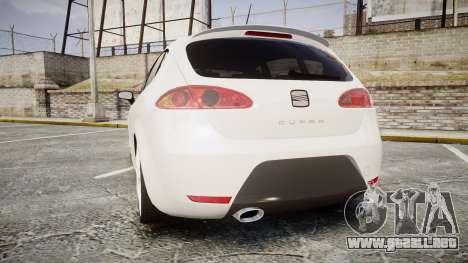 Seat Leon Guido Belsito para GTA 4 Vista posterior izquierda