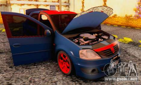 Dacia Logan Turkey Tuning para la vista superior GTA San Andreas