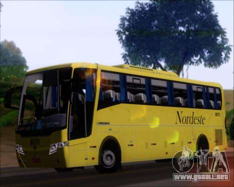 Busscar Elegance 360 Viacao Nordeste 8070 para visión interna GTA San Andreas