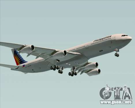 Airbus A340-313 Philippine Airlines para visión interna GTA San Andreas