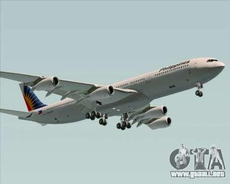 Airbus A340-313 Philippine Airlines para visión interna GTA San Andreas
