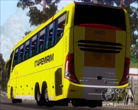 Marcopolo Paradiso 1200 G7 Viacao Itapemirim para vista lateral GTA San Andreas