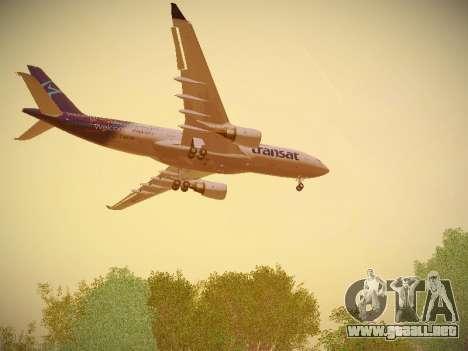 Airbus A330-200 Air Transat para las ruedas de GTA San Andreas