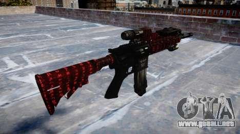 Automatic rifle Colt M4A1 arte de la guerra para GTA 4 segundos de pantalla