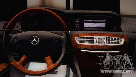 Mercedes-Benz CL63 AMG para GTA San Andreas vista posterior izquierda