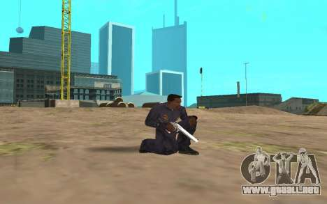 Chrome Weapon Pack by SampHack para GTA San Andreas