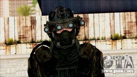 Soldados de equipo Fantasma 1 para GTA San Andreas tercera pantalla
