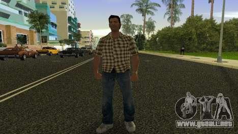 Kockas polo - citrom sarga T-Shirt para GTA Vice City segunda pantalla