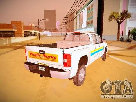 Chevrolet Silverado 2500HD Public Works Truck para GTA San Andreas left