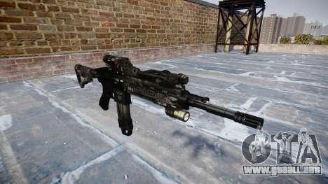 Automatic rifle Colt M4A1 kryptek tifón para GTA 4