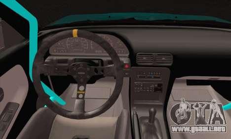 Nissan 240SX Drift Monster Energy para GTA San Andreas vista posterior izquierda