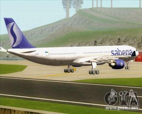 Airbus A330-300 Sabena para la visión correcta GTA San Andreas