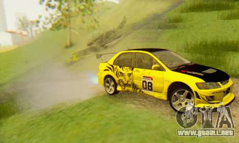 Mitsubishi Lancer Turkis Drift Aem para visión interna GTA San Andreas