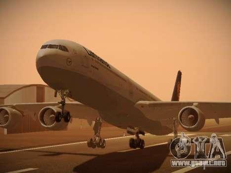 Airbus A340-600 Lufthansa para GTA San Andreas left