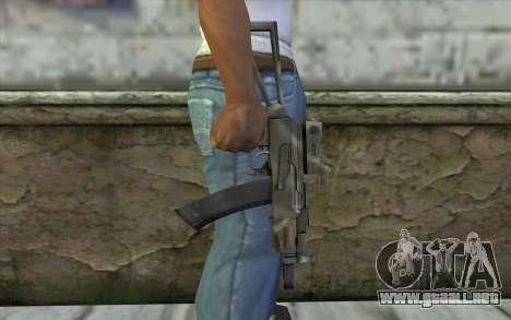 AK74U from Battlefield 2 para GTA San Andreas tercera pantalla