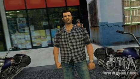 Kockas polo - szurke T-Shirt para GTA Vice City tercera pantalla