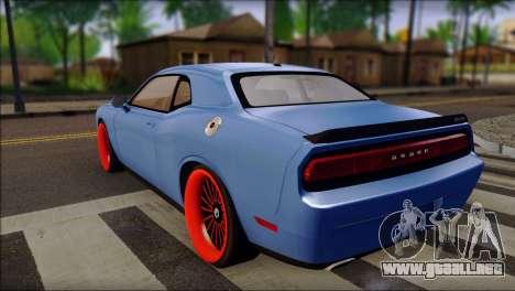 Dodge Challenger SRT8 Stance para GTA San Andreas left
