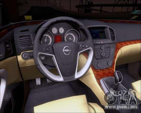 Opel Insignia OPC para las ruedas de GTA San Andreas