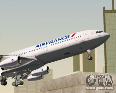 Airbus A340-313 Air France (New Livery) para GTA San Andreas interior