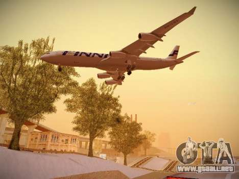 Airbus A340-300 Finnair para vista lateral GTA San Andreas
