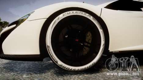 McLaren 650S Spider 2014 [EPM] Bridgestone v3 para GTA 4 vista hacia atrás