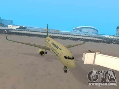 Boeing 737-84R Ukraine International Airlines para visión interna GTA San Andreas