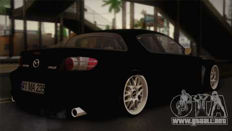 Mazda RX-8 Drift para GTA San Andreas left