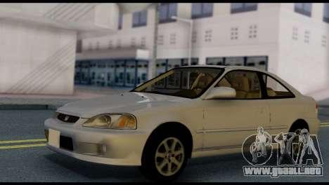 Honda Civic Si 1999 para la visión correcta GTA San Andreas