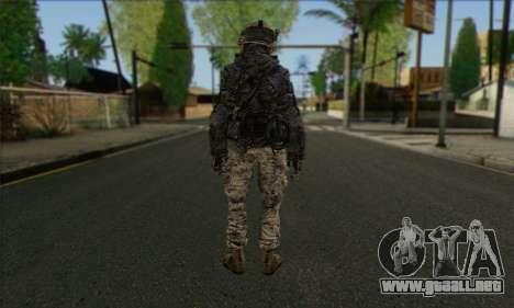 Task Force 141 (CoD: MW 2) Skin 4 para GTA San Andreas segunda pantalla