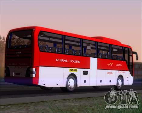 MAN Lion Coach Rural Tours 2790 para la visión correcta GTA San Andreas