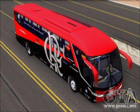 Marcopolo Paradiso 1200 G7 4X2 C.R.F Flamengo para GTA San Andreas vista hacia atrás
