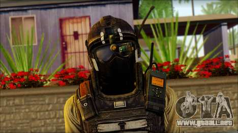 Mercenario (SC: Blacklist) v1 para GTA San Andreas tercera pantalla